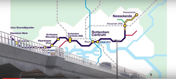 Video eind 2017 met de metro strand nesselande naar for Direct wonen rotterdam